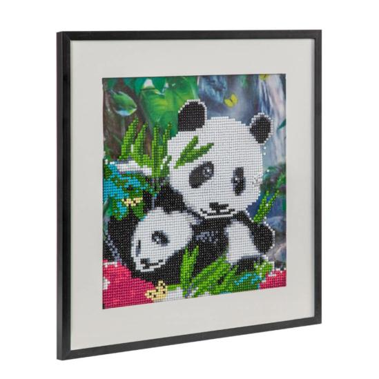Panda mama és kicsinye 30x30 cm