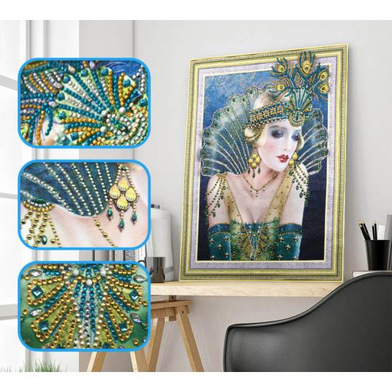 Charleston táncosnő - gyémántszemes kirakó