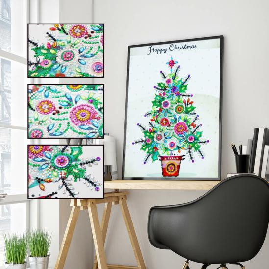 Csillogó karácsonyfa - gyémántszemes kirakó