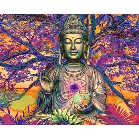 Ülő Buddha - gyémántszemes kirakó