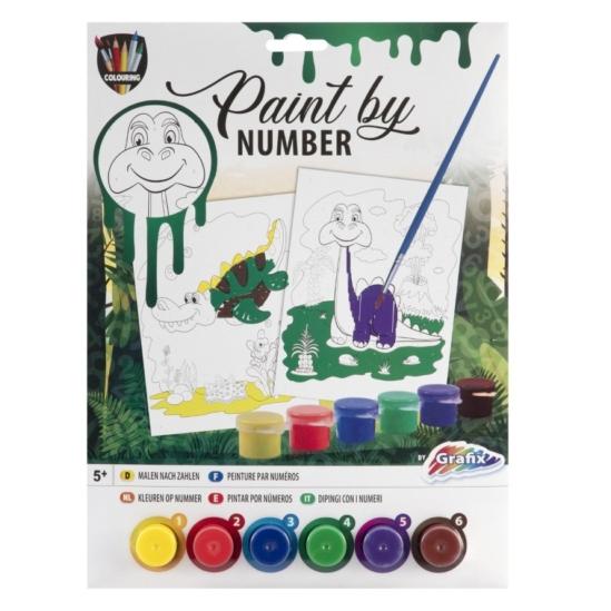 Dínó és krokodil - számfestő készlet