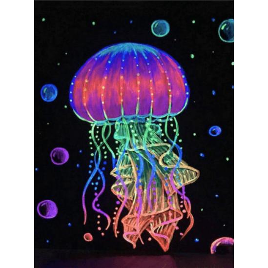 Színes medúza - gyémántszemes kirakó