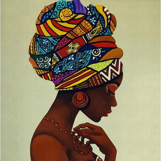 Afrikai nő - gyémántszemes kirakó