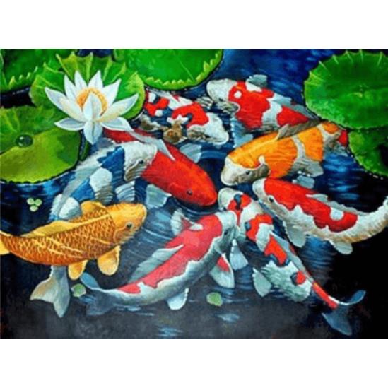 Szerencsehozó halak - gyémántszemes kirakó