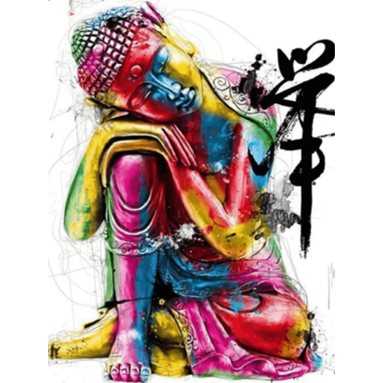 Színes Buddha - gyémántszemes kirakó