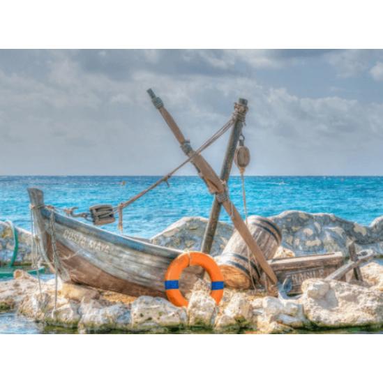 Halászhajó - gyémántszemes kirakó