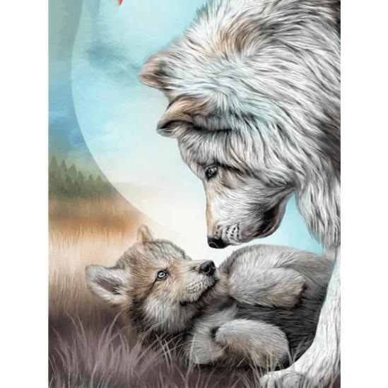 Farkasszeretet - gyémántszemes kirakó