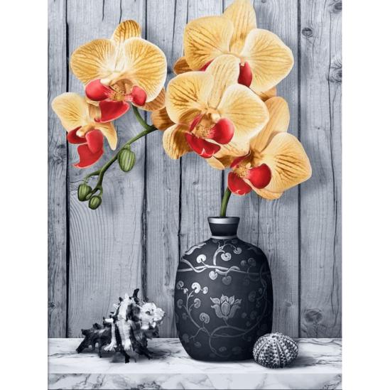 Orchidea - gyémántszemes kirakó