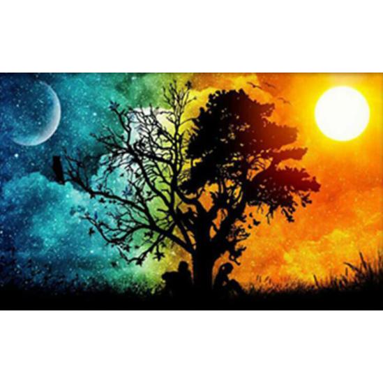 Nap és Hold - gyémántszemes kirakó