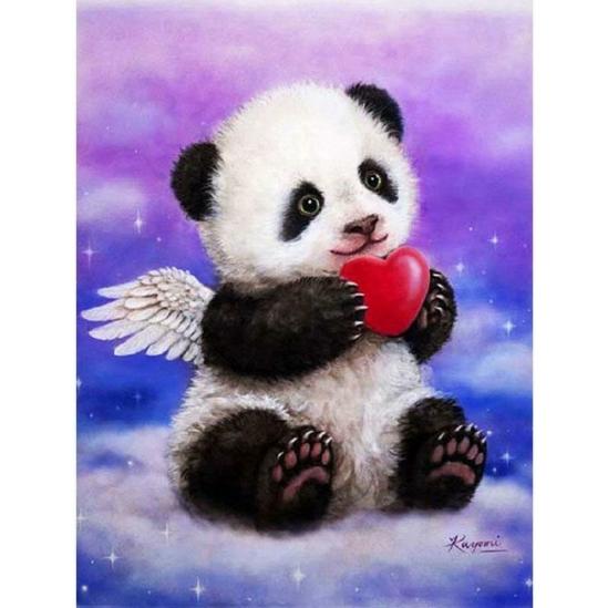 Panda angyal - gyémántszemes kirakó