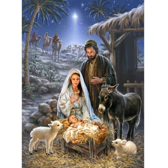 Betlehemi csillag - gyémántszemes kirakó