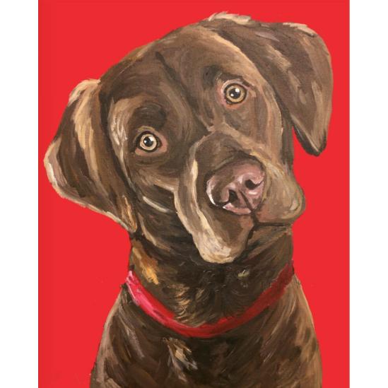 Labrador kutya - gyémántszemes kirakó