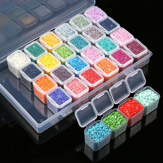 Gyémántszemtároló doboz 28 db-os